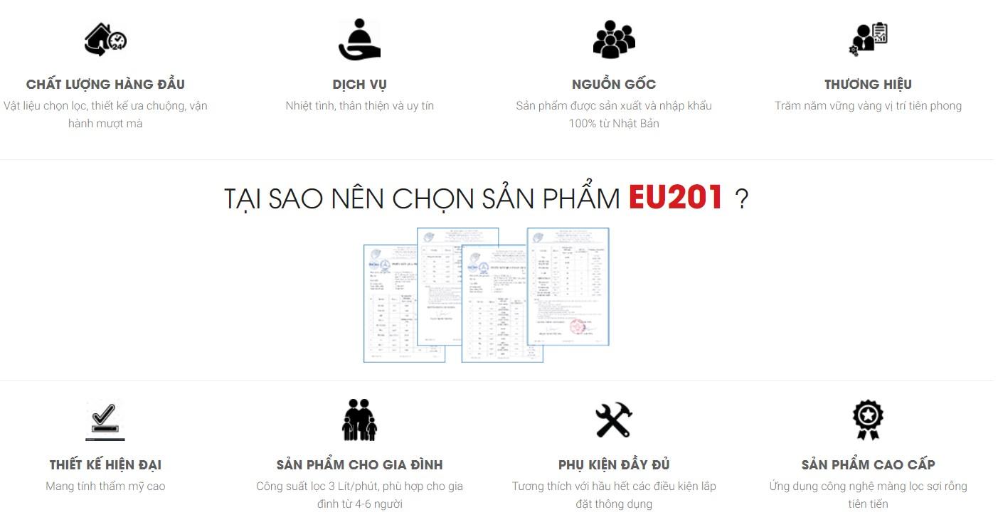 MÁY LỌC NƯỚC CLEASUI EU201